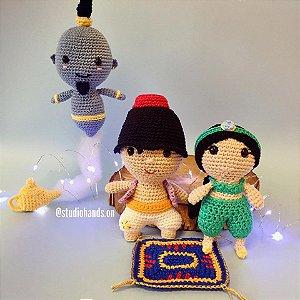 Turma do Aladdin (Aladdin, Tapete, Gênio com a Lâmpada e Jasmine)