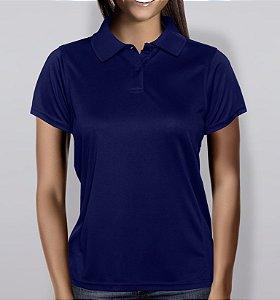 dc2c370044 Polo em Piquet Feminina - Azul Marinho
