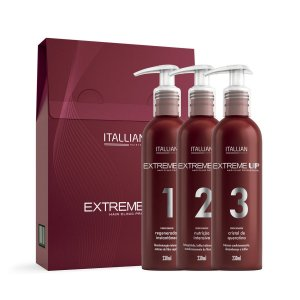 Kit Reconstrução Itallian Extreme Up Hair Clinic 3 x 230ml
