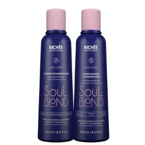 Shampoo E Condicionador Matizante Soul Blond Richée 2x250ml