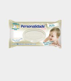 Toalha Umedecida Personalidade Baby | 50 Unidades