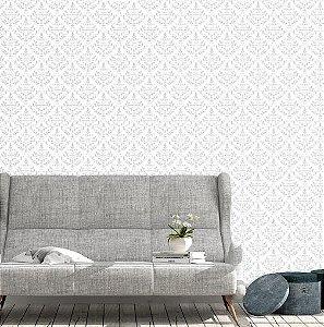 Papel de Parede Vinil Adesivo Vintage Arabesco fundo branco
