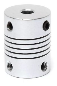 Acoplamento Flexível Eixo 5x8mm 25mm Impressora 3d Cnc
