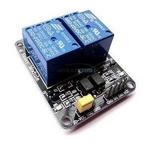 Módulo Relé 2 Canais 5v Led Indicador Arduino