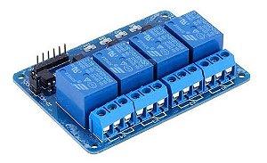 Módulo Relé 4 Canais 5v Led Indicador Arduino