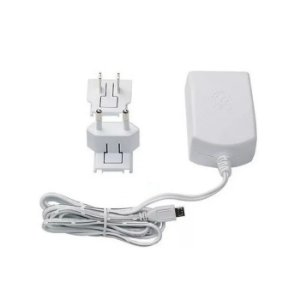Fonte Micro Usb Raspberry Pi 3 Oficial 2 plugs Cor Branca