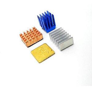Dissipador De Calor Raspberry Pi 4 Alumínio/cobre 4 Pçs