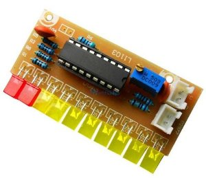 Indicador De Nivel De Audio Lm3915 Vu Meter Kit P/ Montar