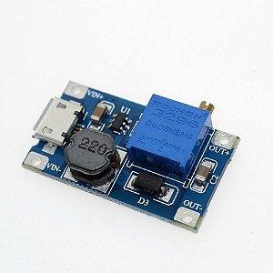 Regulador De Tensão Dc Step-up Mt3608 2a Micro Usb