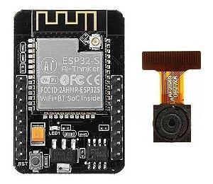 Módulo Esp-32-cam C/ Camera Ov2640 2mp Esp32 Cam Ai-thinker