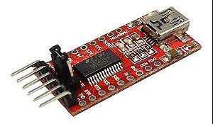Módulo Conversor Usb Serial Rs232 Ftdi Ft232rl Ttl 5v 3v3