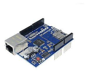 Placa Uno Ethernet Shield W5100 Modulo Rede Arduíno