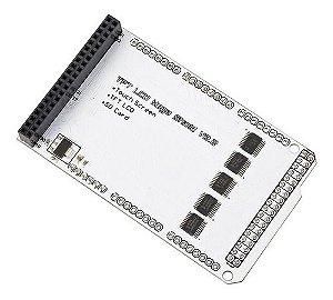 Placa Acoplamento Display Lcd Tft 3.2, 40 Pinos, Placa Mega