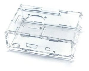 Case Transparente C/ Suporte Cooler P/ Raspberry Pi3