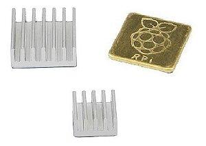 Dissipador De Calor Raspberry Pi 3 Alumínio / Cobre 3 Peças