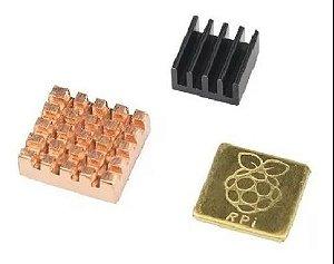 Dissipadores De Calor Raspberry Pi 3 Cobre 3pçs