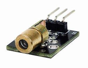 Módulo Laser Diodo Vermelho 5v 650nm 6 Mm Ky-008 Arduino
