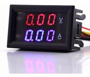 Voltimetro Amperimetro Digital Display Led Dc 100v 10a
