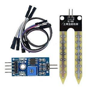 Módulo Sensor De Umidade De Solo Higrometro Arduino
