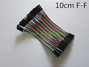 Kit Jumper 40 Peças 10cm P/ Arduino - Fêmea-fêmea