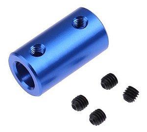 4 Unid Acoplador Alumínio Impressora 3d 8x8mm Azul