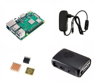 Raspberry Pi 3 B+ Plus C/ Fonte B, Cooler, Case Preta, Diss