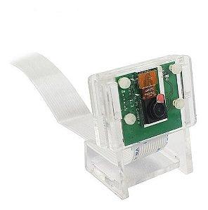 Suporte P/ Câmera V2 Raspberry De Acrílico Transparente
