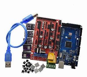 Kit Placa Mega 2560 + Ramps 1.4 + Drv8825