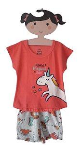 Pijama Feminino Unicórnio