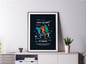 Poster Quadro Decorativo - Coral