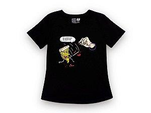Camiseta Sustentável - Babylook Pizza Kill Bill 02 (BAZAR)