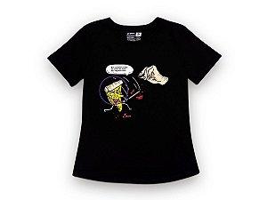 Camiseta Sustentável - Babylook Pizza Kill Bill 11 (BAZAR)