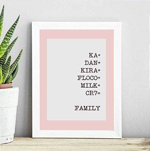 Porta Retrato Family