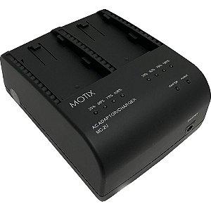 IDX MC-2U Carregador Simultâneo de 2 Canais para Baterias Tipo BP-U da Sony