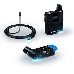 Sennheiser AVX-MKE2 SET Sistema de microfone de lapela sem fio para montagem em câmera digital (1,9 GHz)