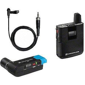 Sennheiser AVX-ME2 SET Sistema de microfone de lapela sem fio para montagem em câmera digital (1,9 GHz)