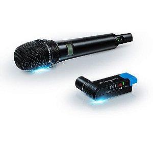 Sennheiser AVX-835 SET Sistema de microfone cardióide de mão sem fio para montagem em câmera digital (1,9 GHz)