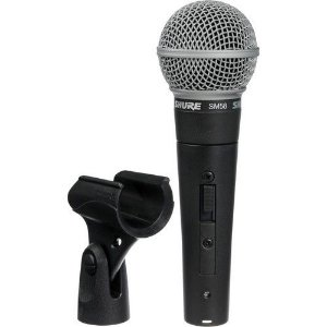 Microfone Vocal Shure SM58S com Interruptor On / Off