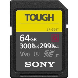 Cartão SDXC Sony 64GB SF-G UHS-II Tough Series