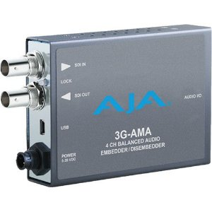 3G-AMA Embedder/Disembedder de Áudio Analógico 3G-SDI