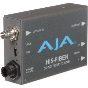 Mini conversor AJA HI5 FIBER