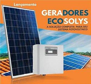 Energia solar - Gerador fotovoltaico - Gere Até 350KWh/Mês-ecosolys - (Instalado)