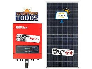 Energia solar - Gerador fotovoltaico - Gere Até 720Wh/Mês-Refusol (instalado)