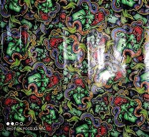 Pelicula Wtp Hidrográfica - Demônios verdes- Tam 1m X 50cm