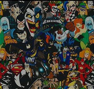 DC Batman & Hérois - Tamanho 1M X 50CM - Pintura Hidrografica WTP