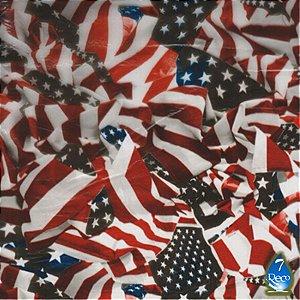 Bandeira EUA envelhecida