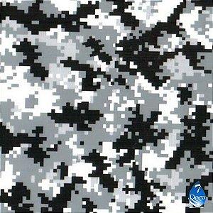 Camuflado digital preto e branco