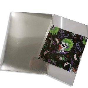Película exclusiva transparente para impressão. Tamanho A4