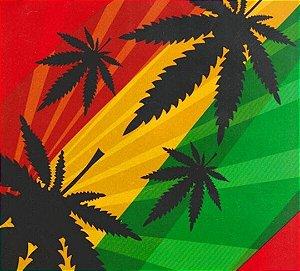 Reggae marijuana - Tamanho 1M X 50CM - Pintura Hidrografica WTP