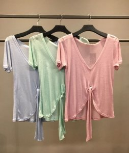 T-shirt  Laço Decote V